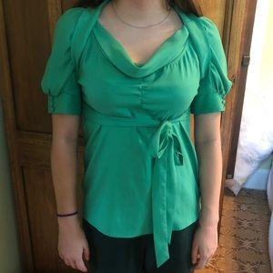 Vertigo Paris emerald green blouse